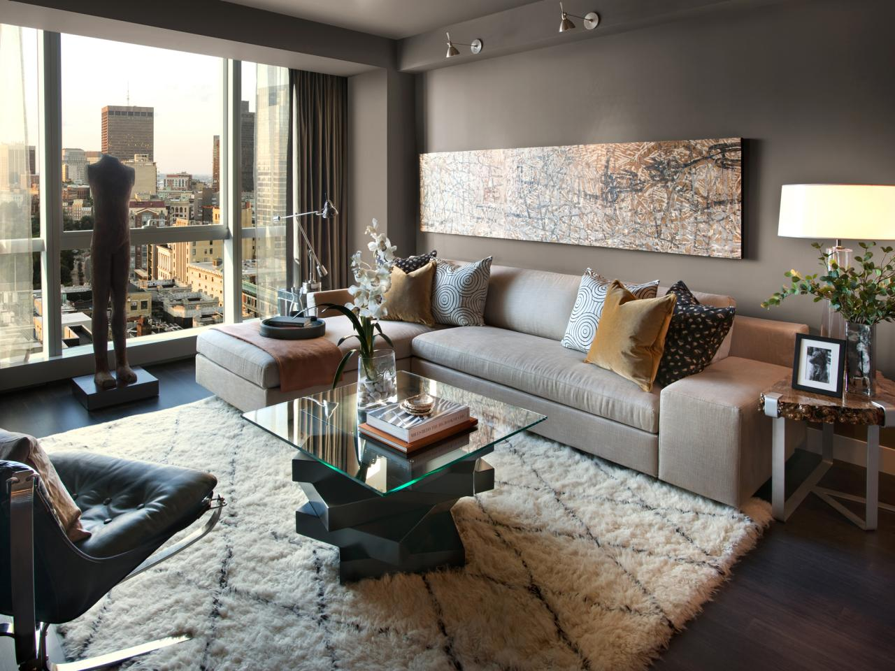 contemporary living room with sweeping views hgtv