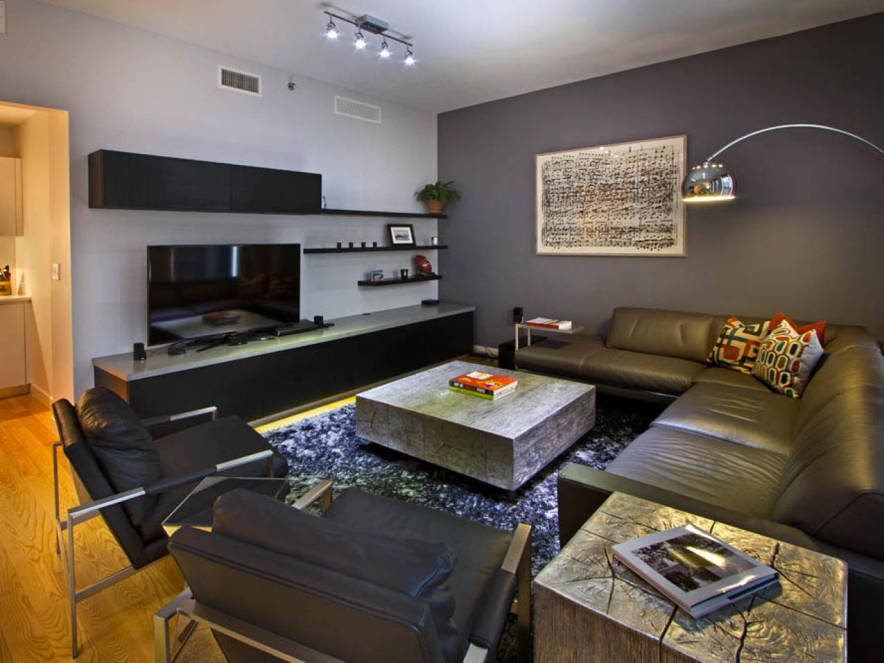 Gray Contemporary Living Room Vanessa Deleon Hgtv