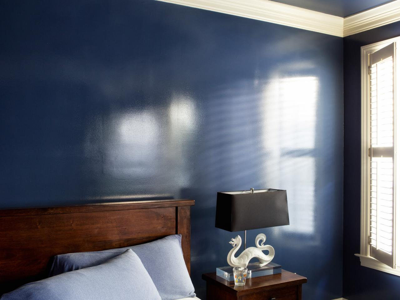 How to add a wet effect to walls with glossy paint hgtv for Interior colour design