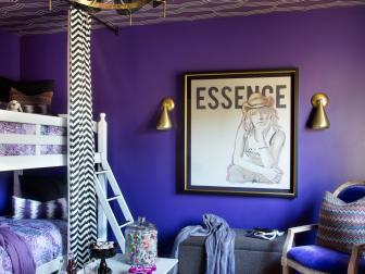 Glamorous Purple Tween Bedroom