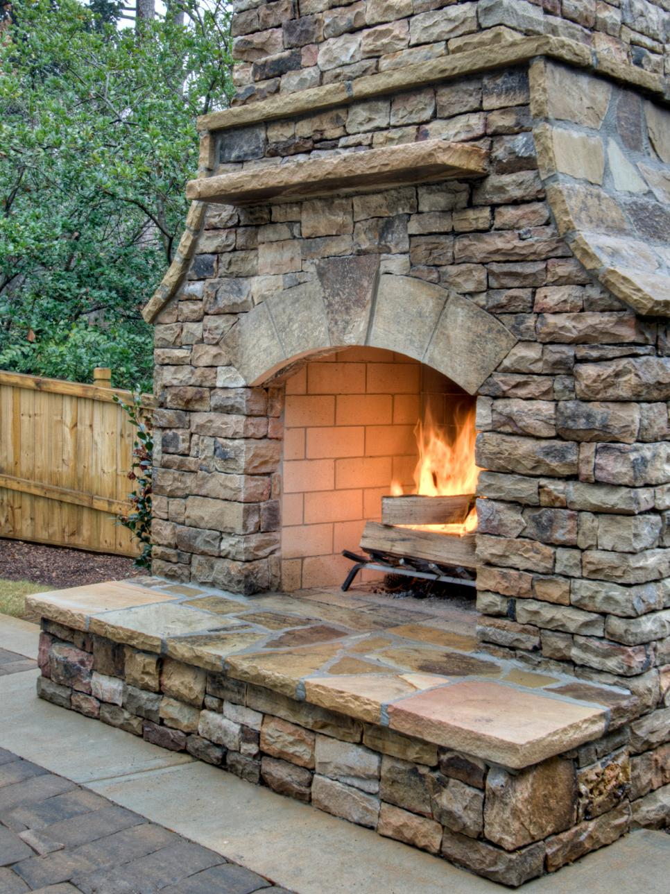 Outdoor Fireplace Ideas - Design Ideas for Outdoor Fireplaces | HGTV