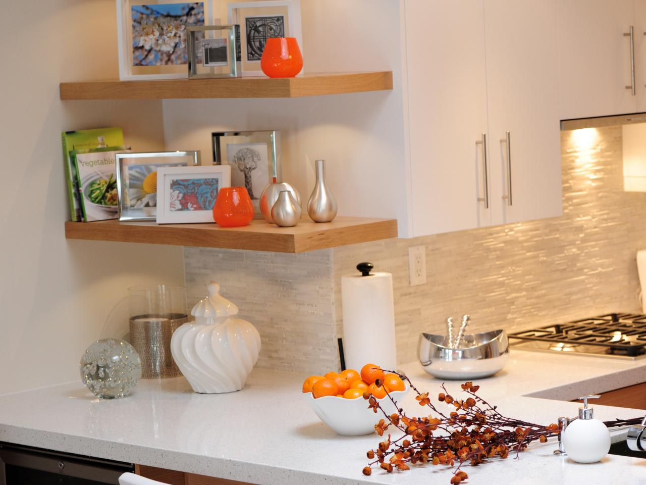 Orange And White Kitchen Brightly Modern Kitchen Judith Taylor Hgtv