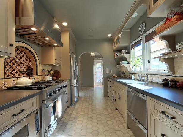 Stylish Gray Kitchen With Moroccan Detail