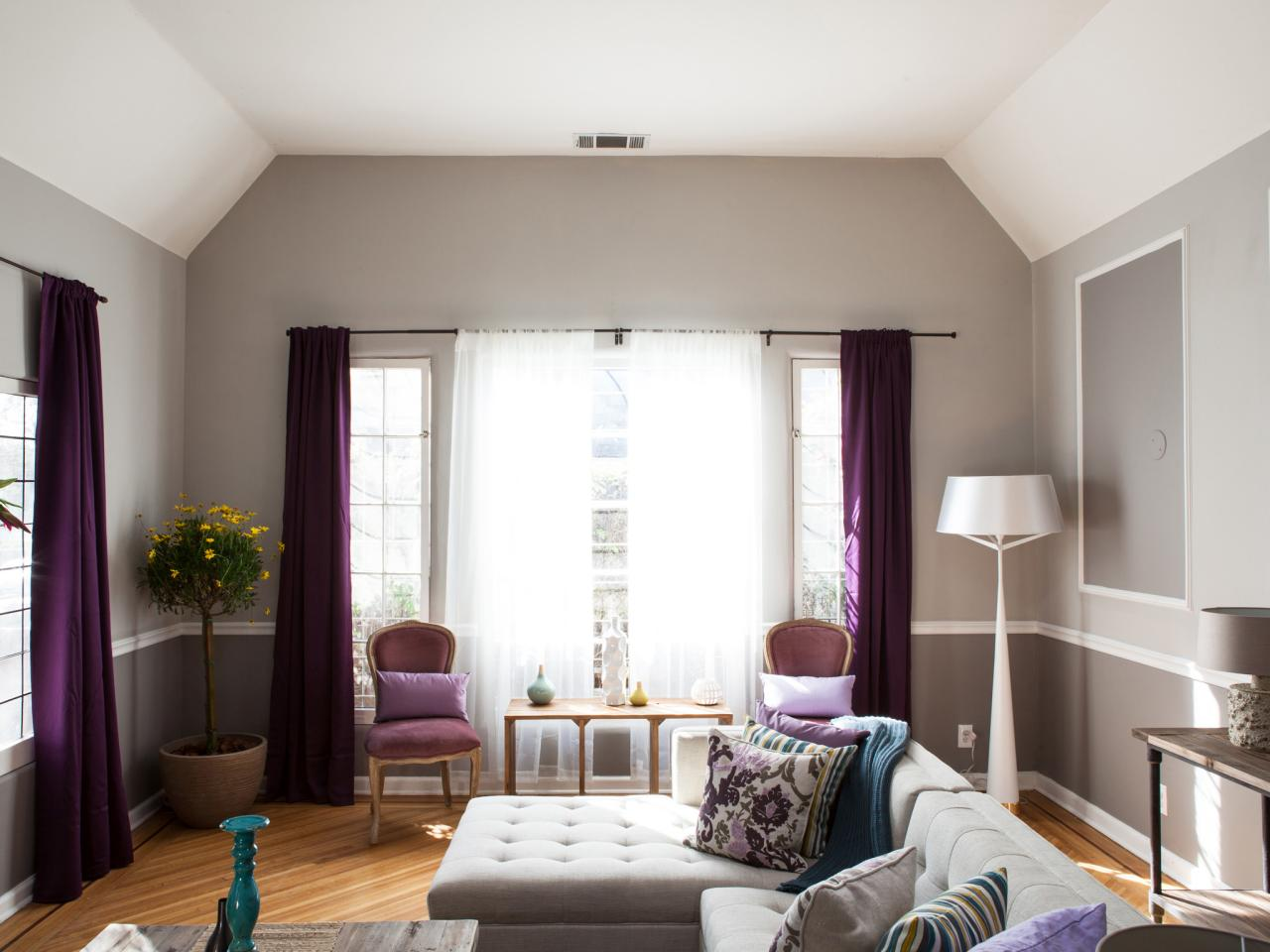 Purple Living Room Curtains Photo Page Hgtv