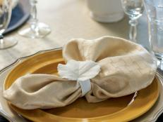 Plaster Leaf Napkin Ring and Place Card