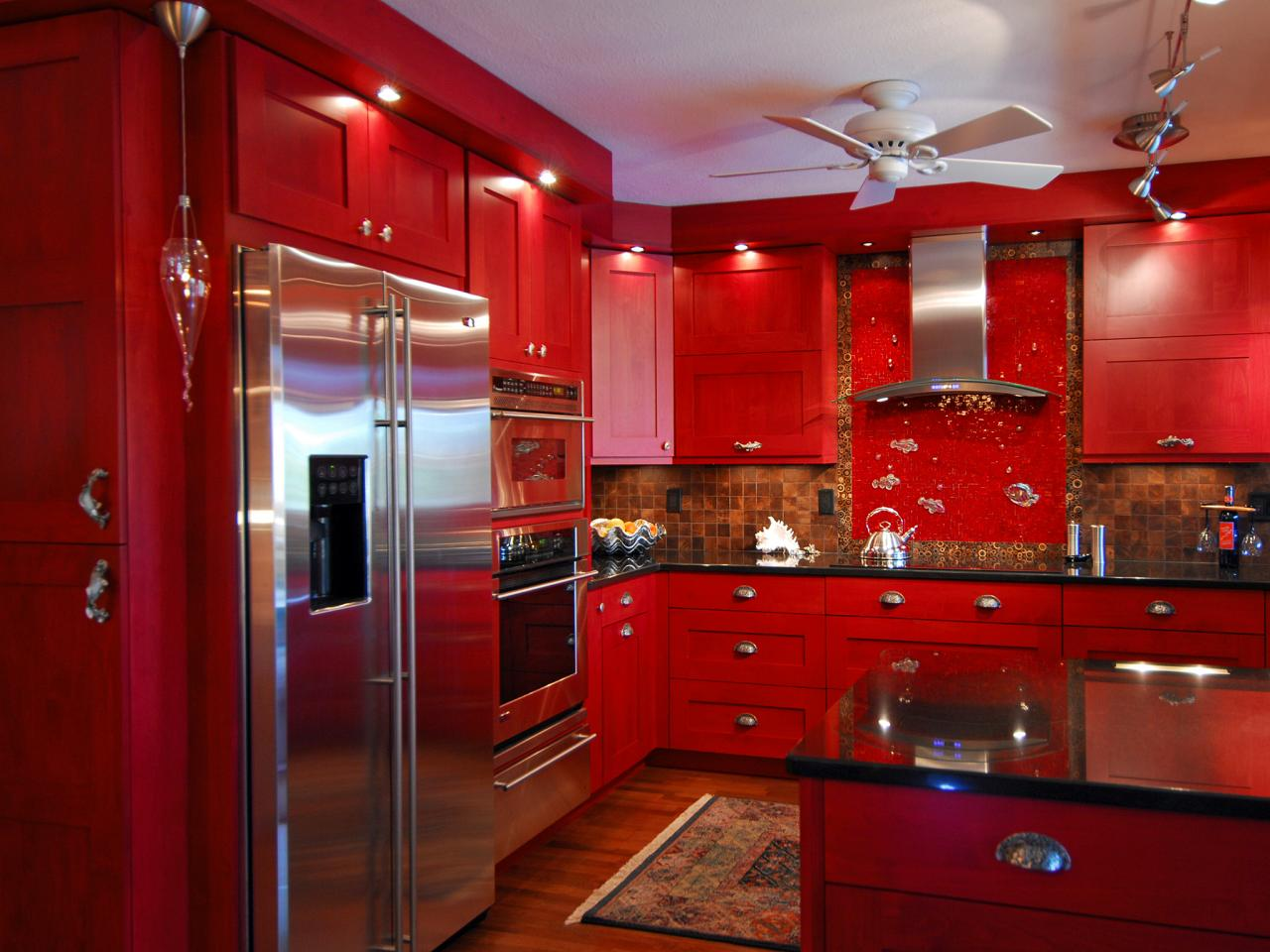 Red Eclectic Kitchen Photos Hgtv