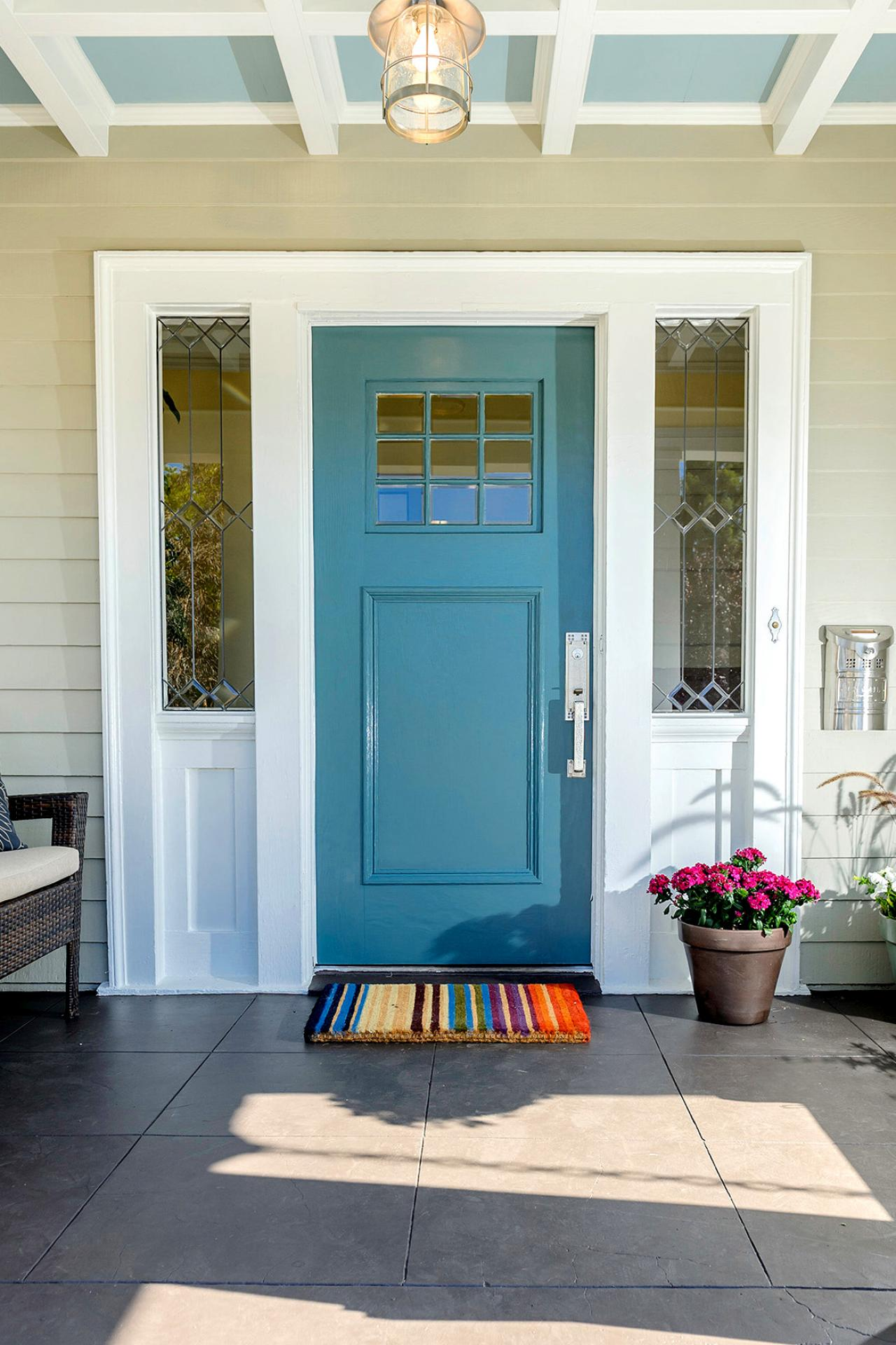 Photos hgtv Front door color ideas for beige house