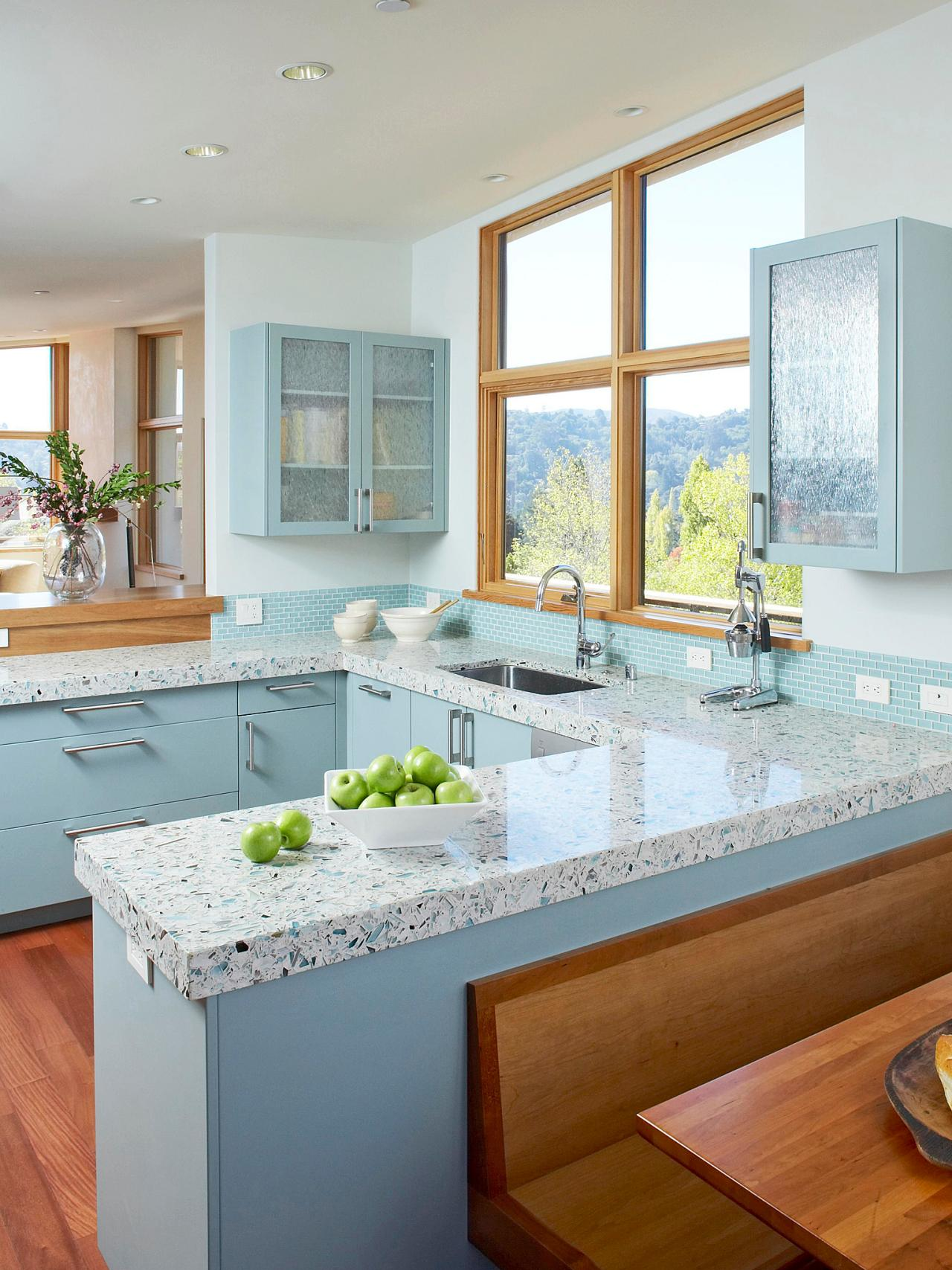 Non Granite Kitchen Countertops White Granite Kitchen Countertops Pictures Ideas From Hgtv Hgtv