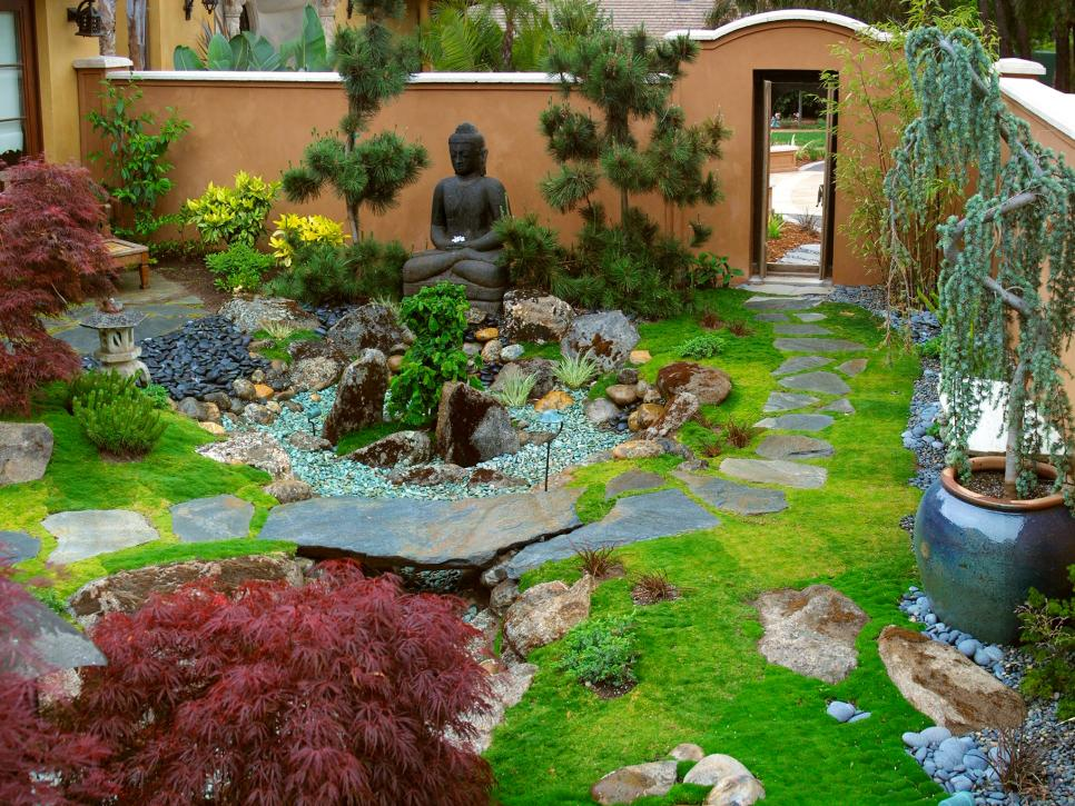 elegant zen garden retreat margie grace hgtv