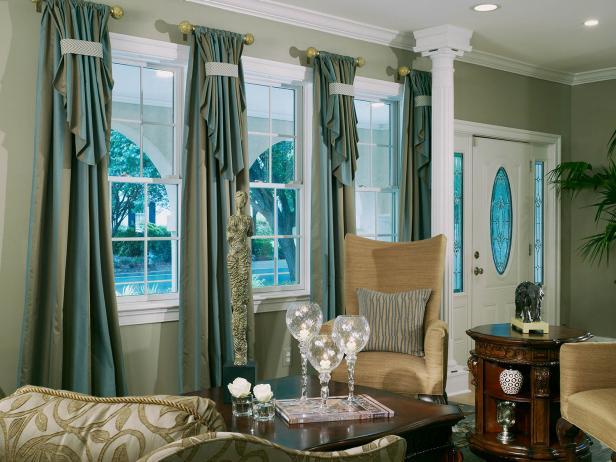 Elegant Beige and Green Living Room