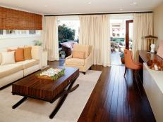 Contemporary Living Room with Zebrawood Coffee Table