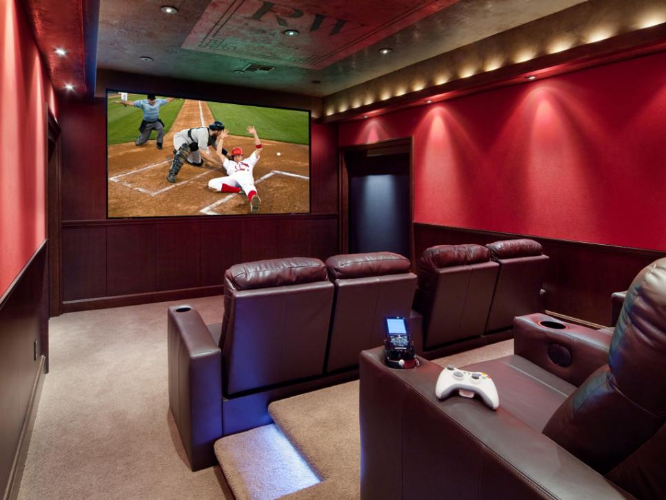 home theater design tips ideas for home theater design hgtv. Black Bedroom Furniture Sets. Home Design Ideas