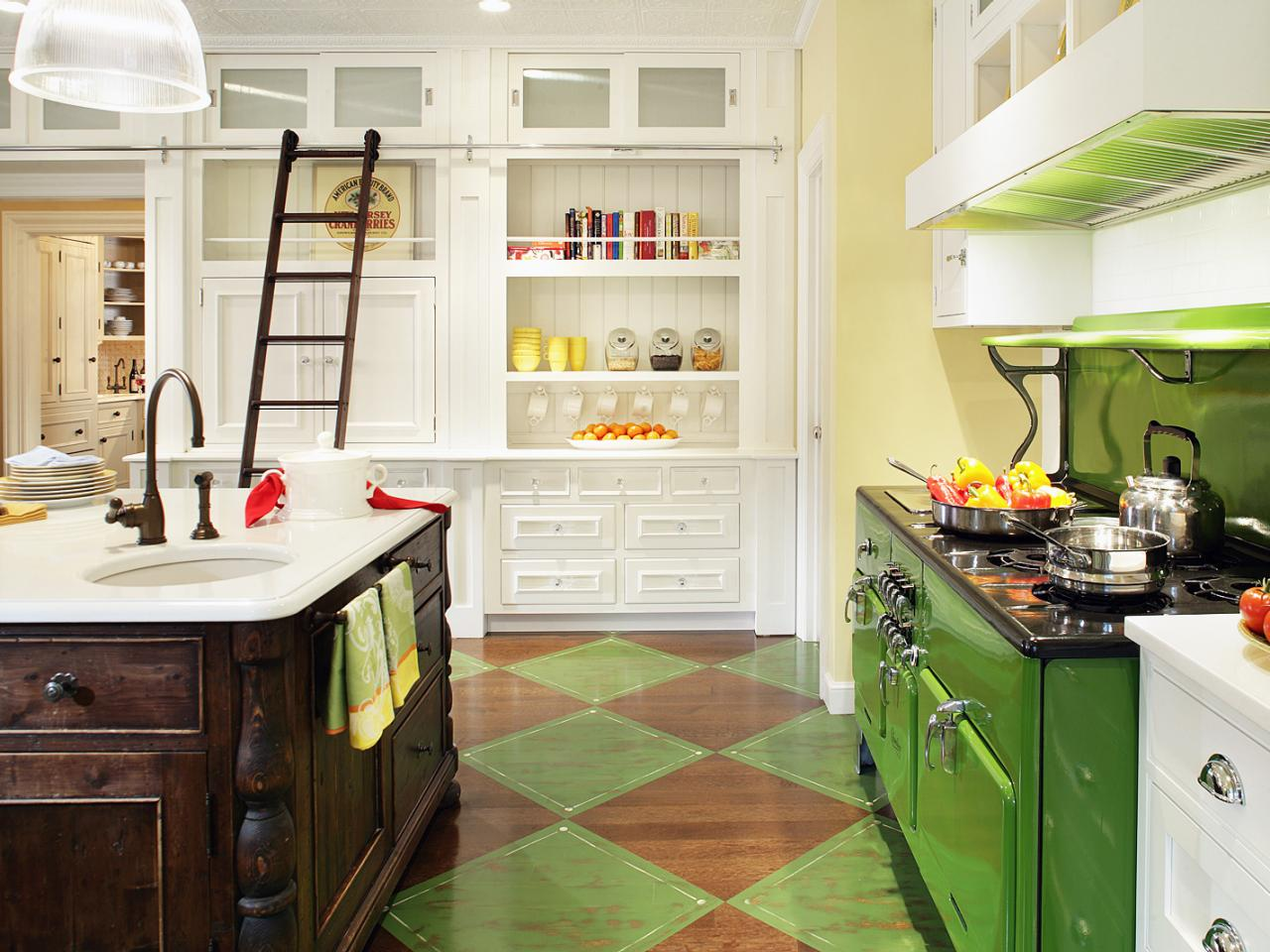 Photos hgtv for Yellow green kitchen ideas