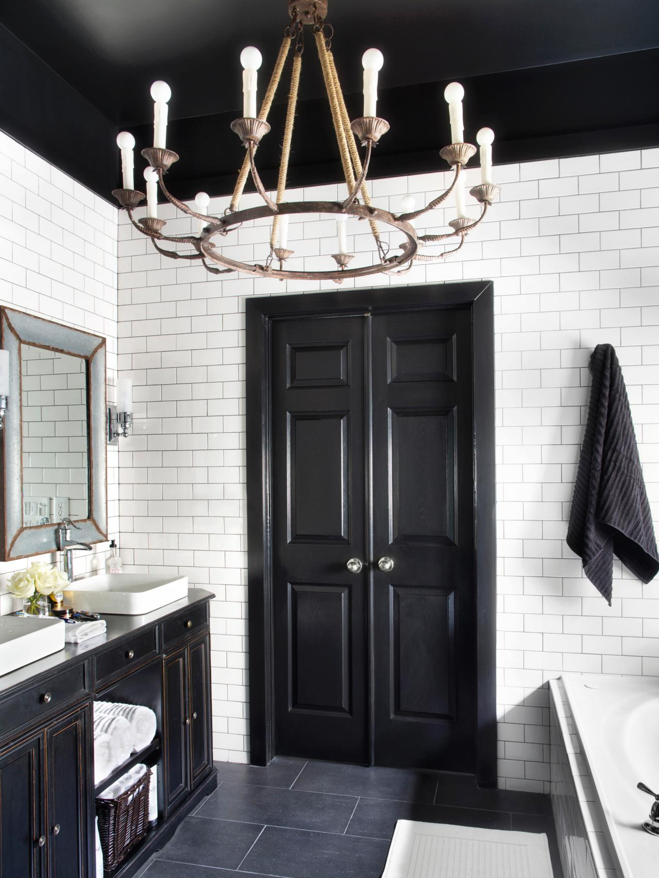 Bold black interior doors inspiration and tips hgtv 39 s decorating design blog hgtv - Sophisticated black interior doors ...