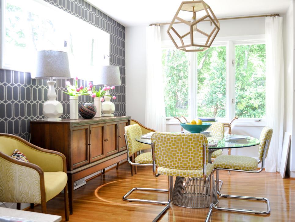 Vibrant Midcentury Modern Dining Room evaru design HGTV