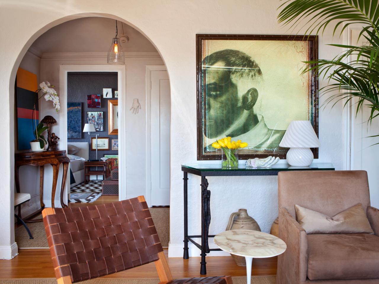 Photos hgtv for Arch design for living room