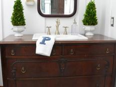 Traditional Dresser Gets New Life as Bathroom Vanity