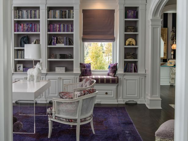 Transitional Purple and White Study