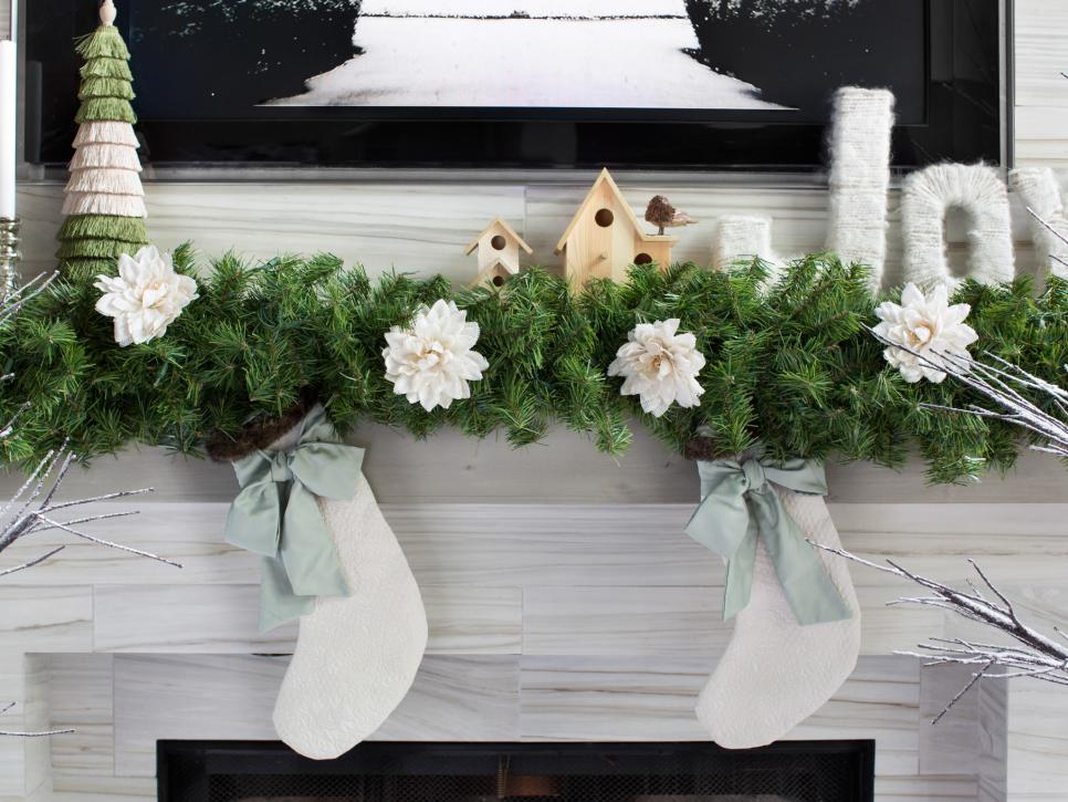 Decorating A Mantel christmas decorating ideas for mantels | hgtv