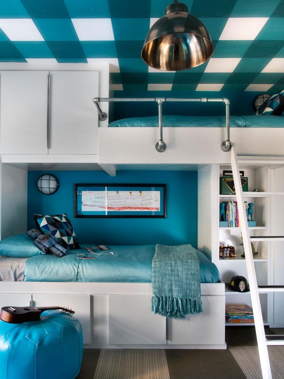 Kids 39 bunk bed and bunkroom design ideas diy - Creative deck storage ideas integrating storage to your outdoor room ...
