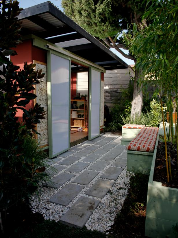 Asian Exterior With Sliding Doors