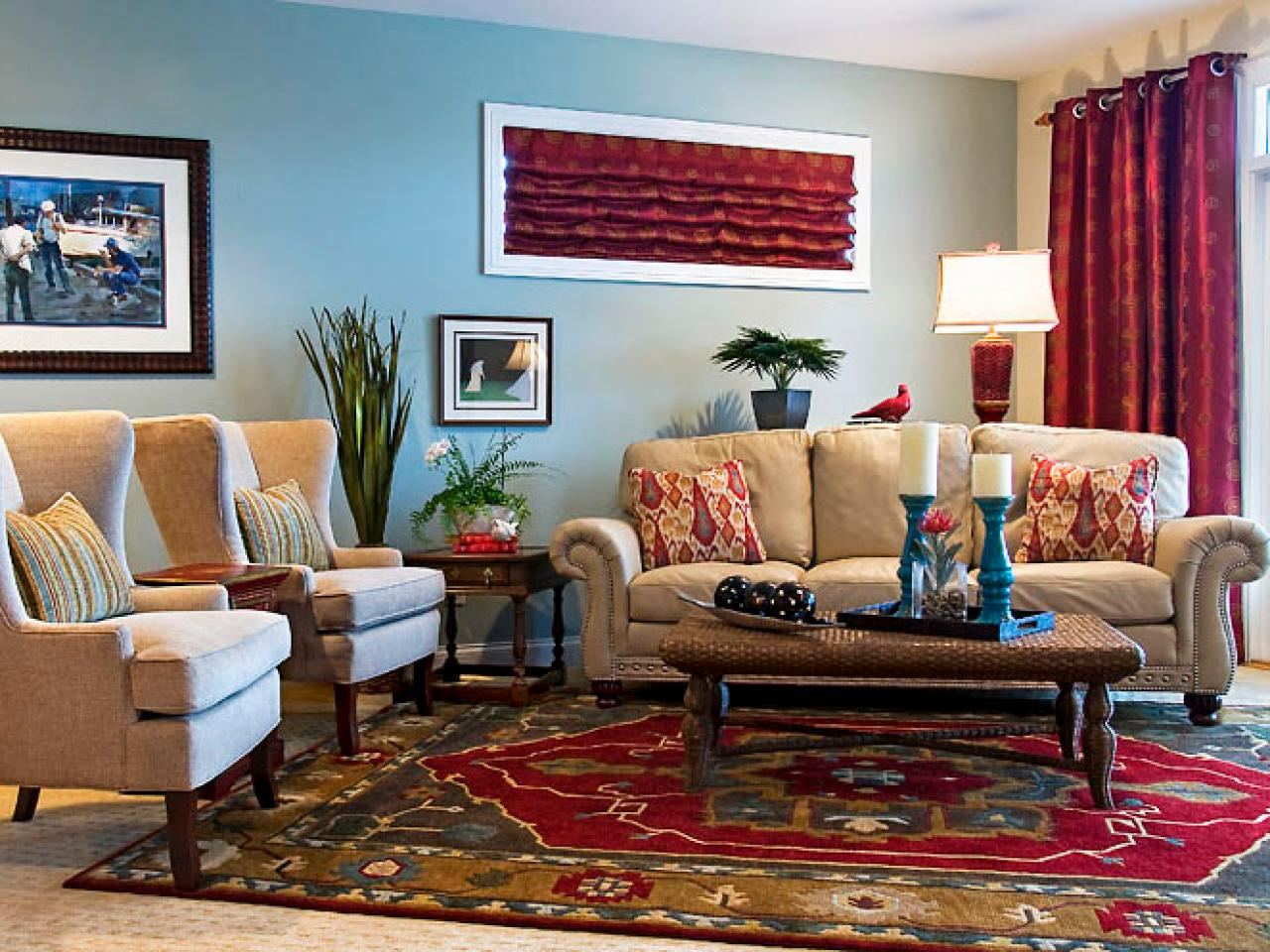 casual family living room sandy kozar hgtv