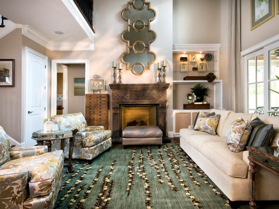 Cozy Yet Elegant Living Room Sandy Kozar Hgtv