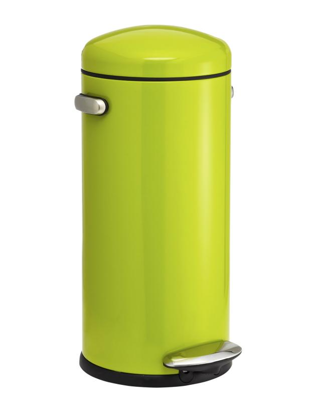 Bright Green Trash Can