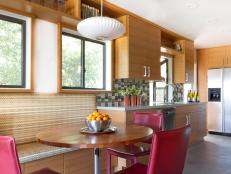 Banquette Breakfast Area in Contemporary Kitchen