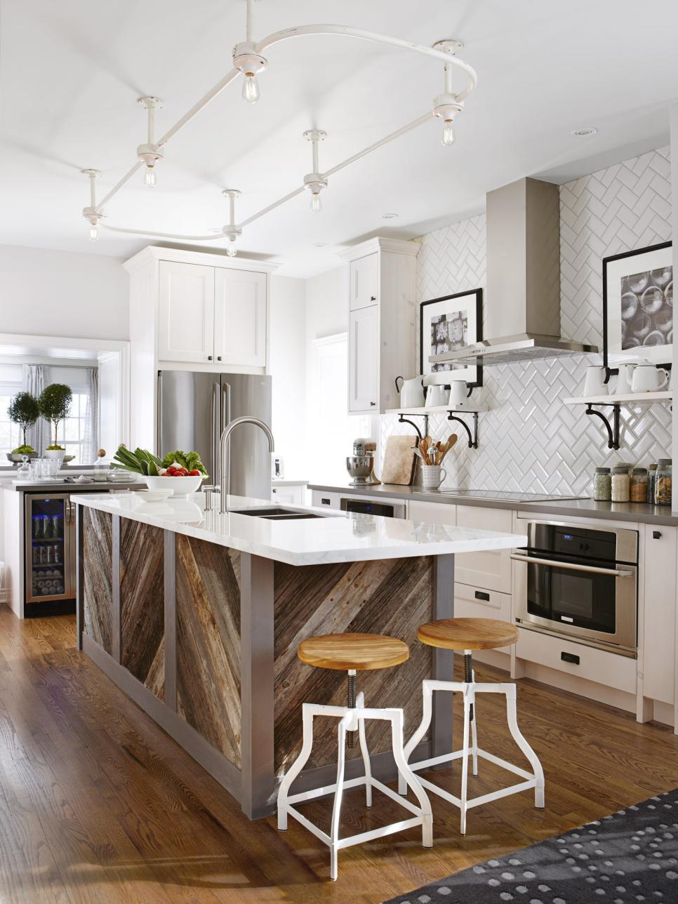 20 dreamy kitchen islands hgtv for Kitchen wall island