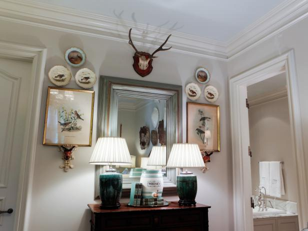 Add masculine touches to traditional decor.