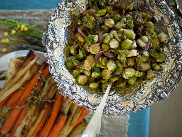 Brussels Sprouts With Red Onions and Hazelnuts