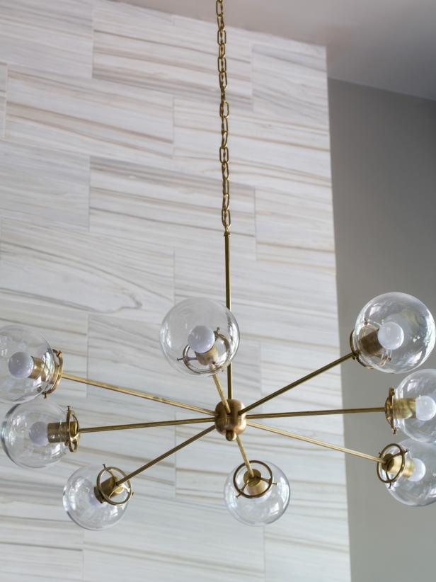 Midcentury Modern Brass Chandelier - HGTV Photo Library
