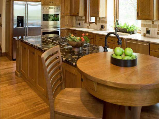 Kitchen island breakfast bar pictures ideas from hgtv for Built in kitchen islands