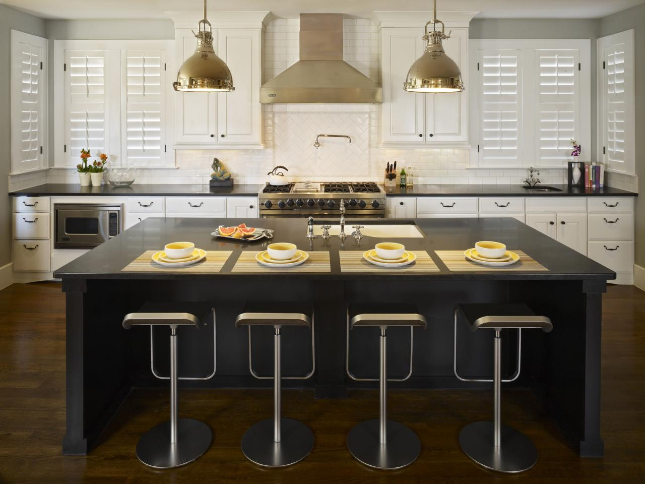 Black kitchen islands pictures ideas tips from hgtv hgtv for Black kitchen design