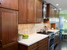 Remodeled Kitchen With Warm Wooden Cabinets