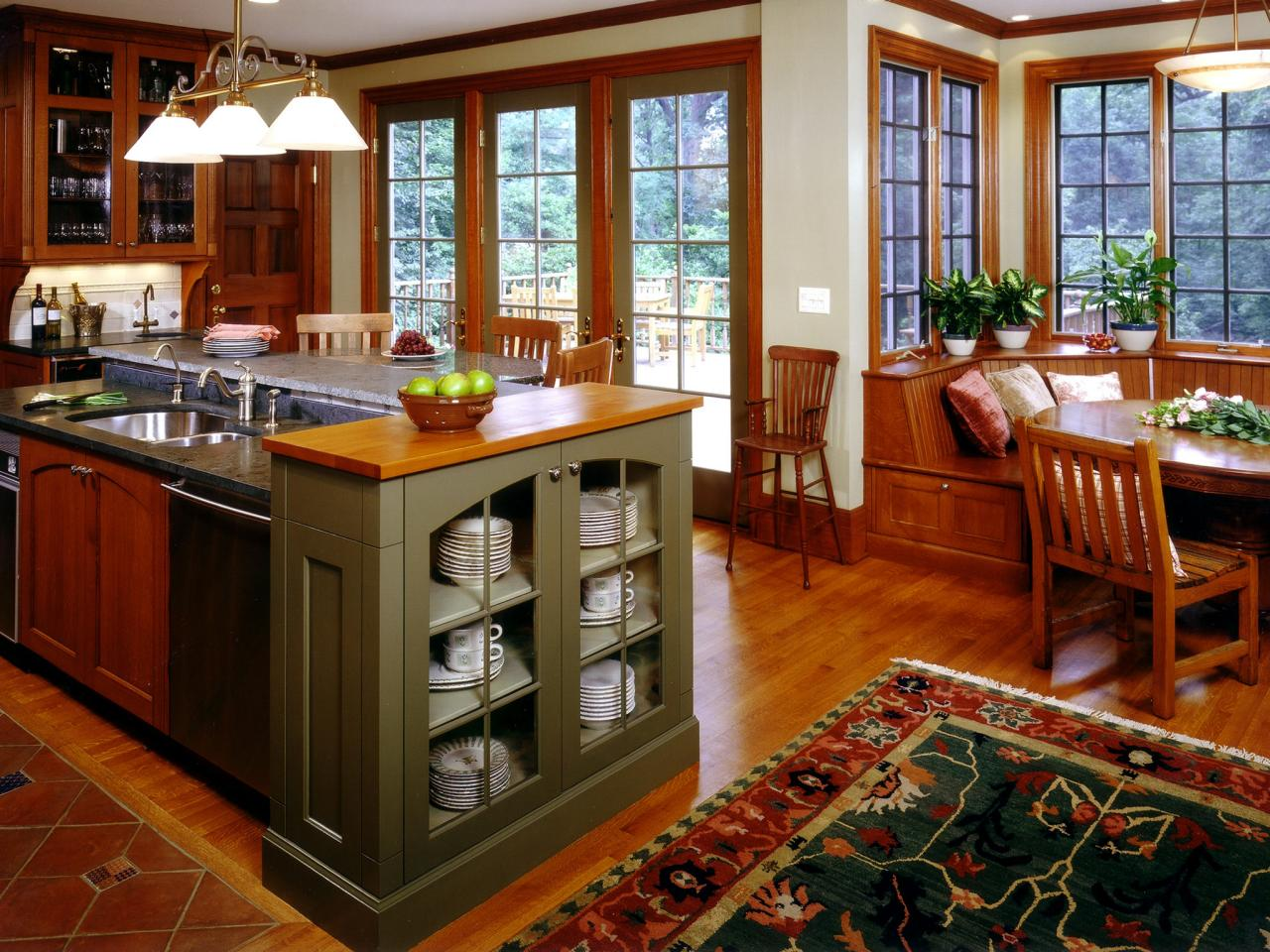 craftsman style kitchen cabinets hgtv pictures ideas hgtv