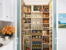 Kitchen Pantry With Organized Shelving Unit