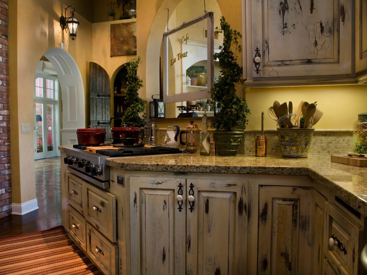 Distressed Kitchen Cabinets: Pictures & Ideas From HGTV | HGTV