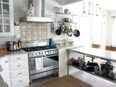 Eclectic Kitchen With Terra Cotta Tile Backsplash