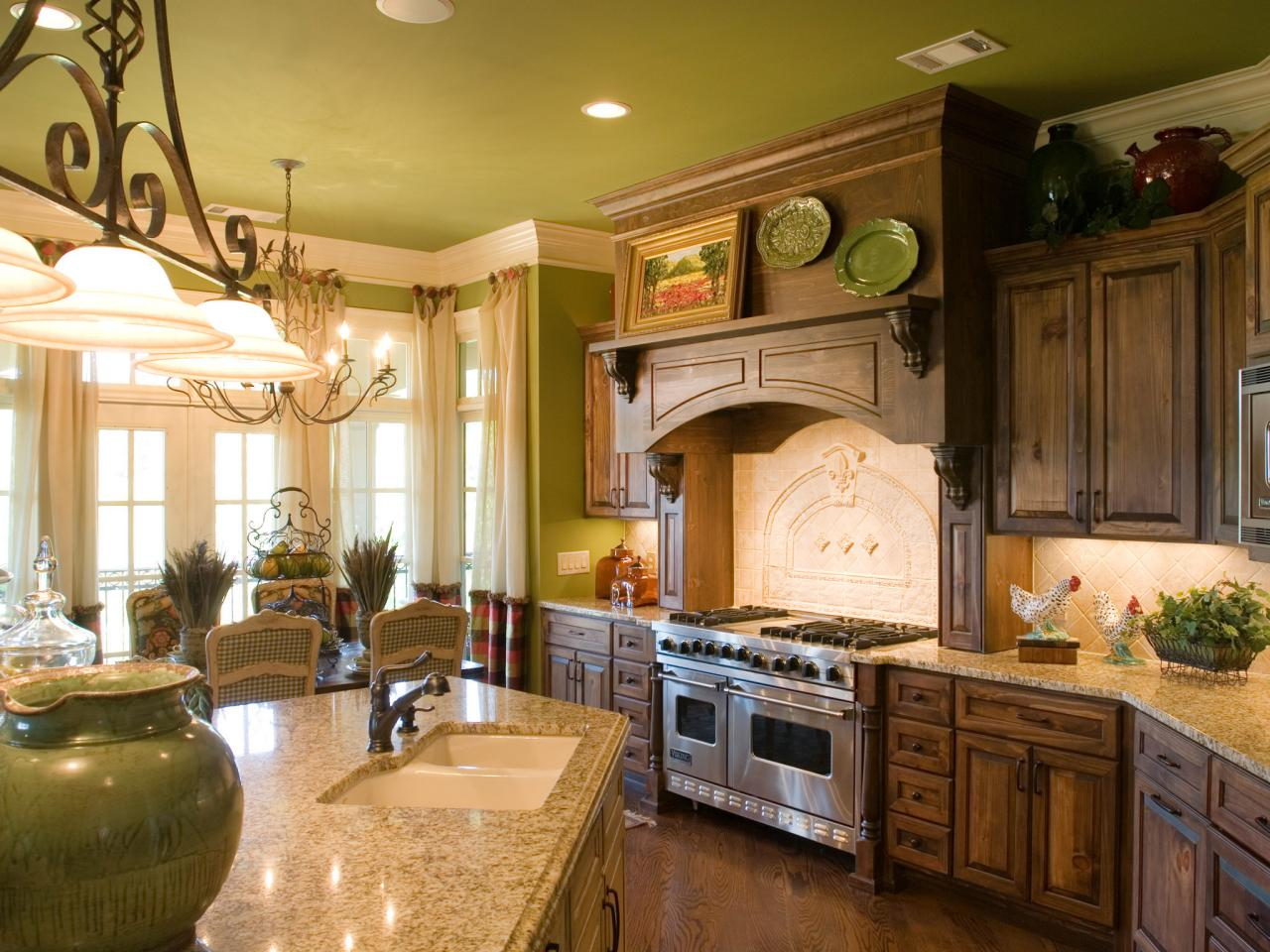 French Country Kitchen Cabinets Pictures Ideas From HGTV HGTV - Green kitchen accessories ideas