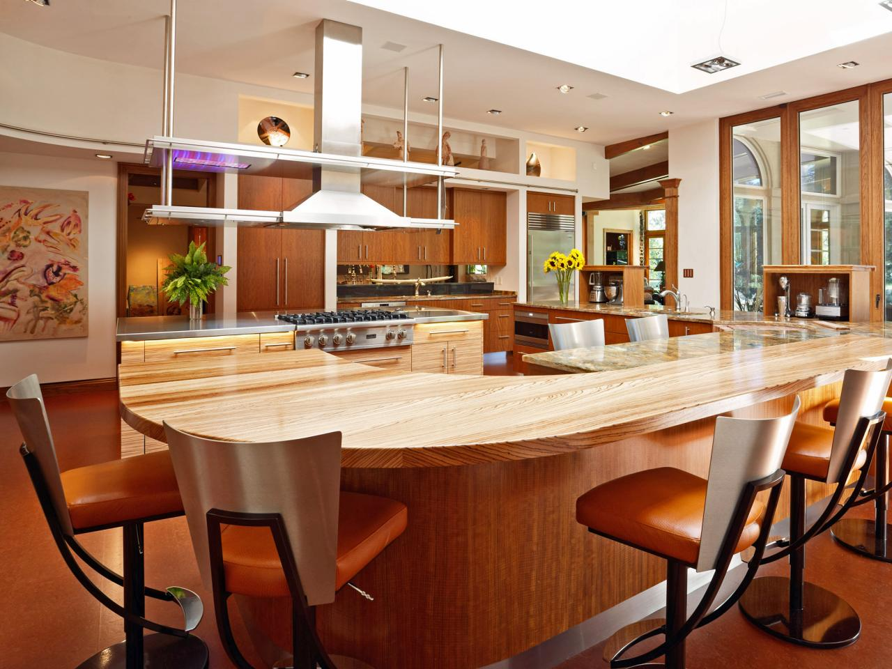 Larger kitchen islands pictures ideas tips from hgtv for Kitchen designs big