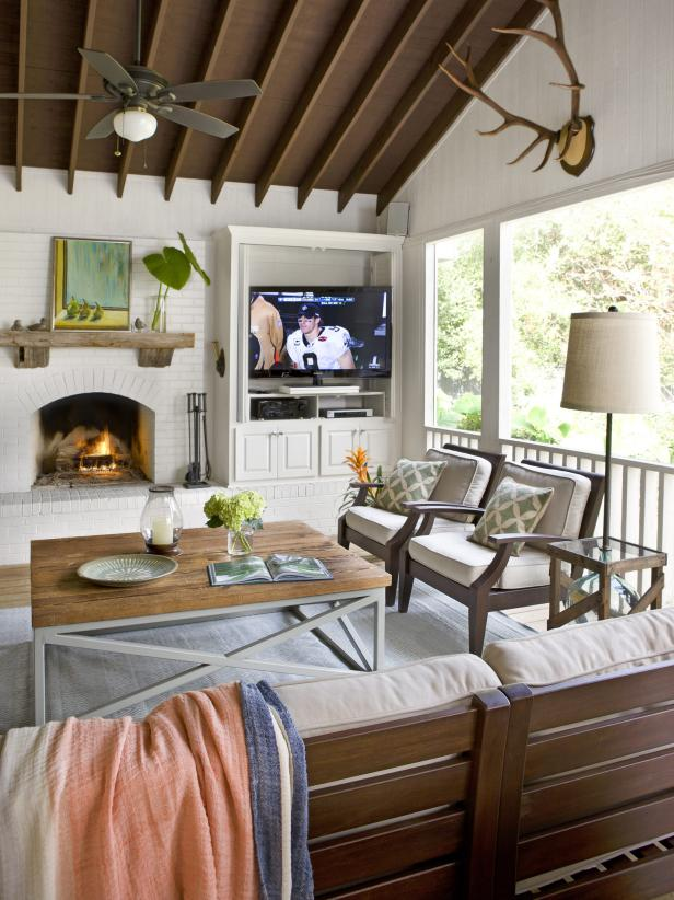 Outdoor Kitchen And Three Season Room Hgtv
