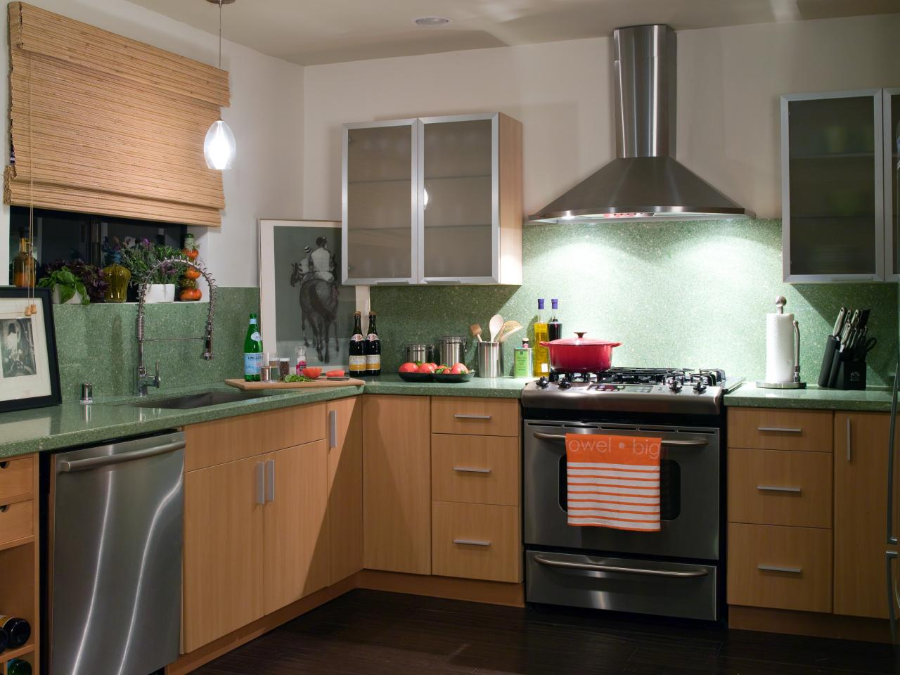 Eco countertops pictures ideas tips from hgtv hgtv for Eco friendly kitchen products