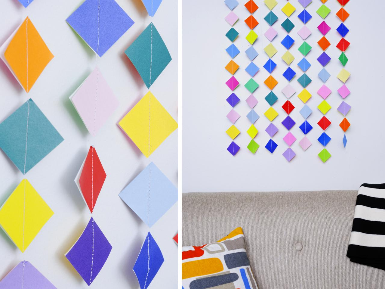 Make Colorful Garland Wall Art With Origami Paper HGTV
