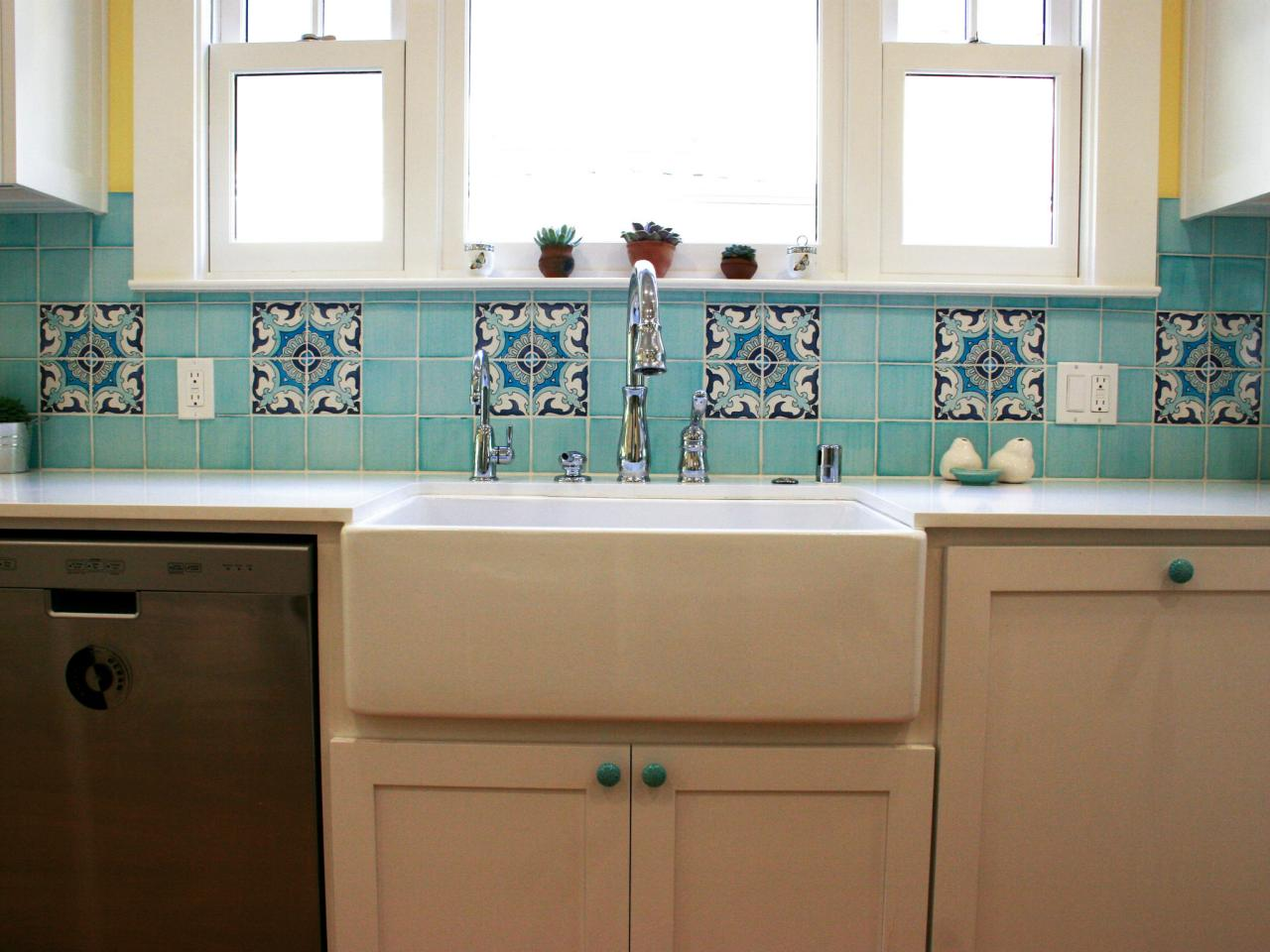 ceramic tile backsplashes: pictures, ideas & tips from hgtv | hgtv