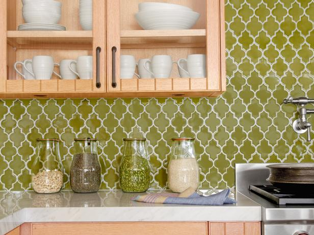 Kitchen Backsplash Green cool kitchen backsplash ideas: pictures & tips from hgtv | hgtv