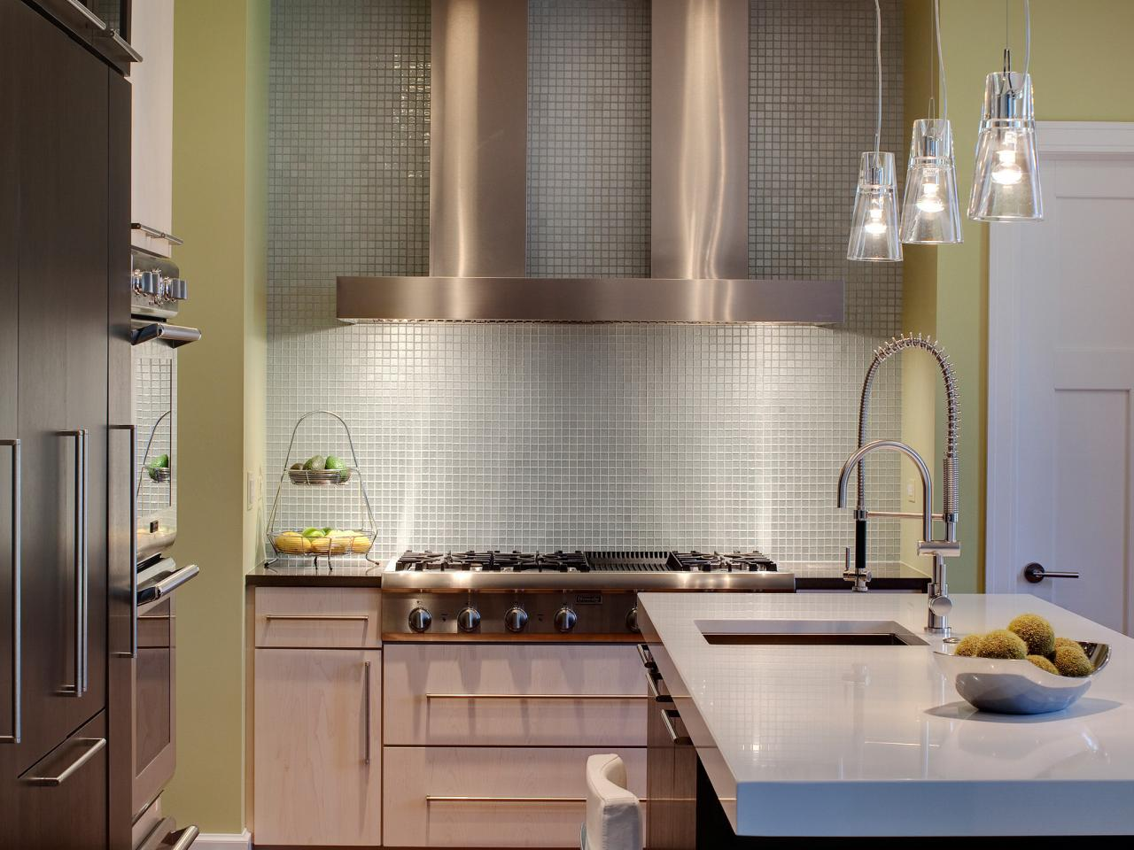 Modern kitchen backsplashes pictures ideas from hgtv hgtv Contemporary kitchen tiles ideas