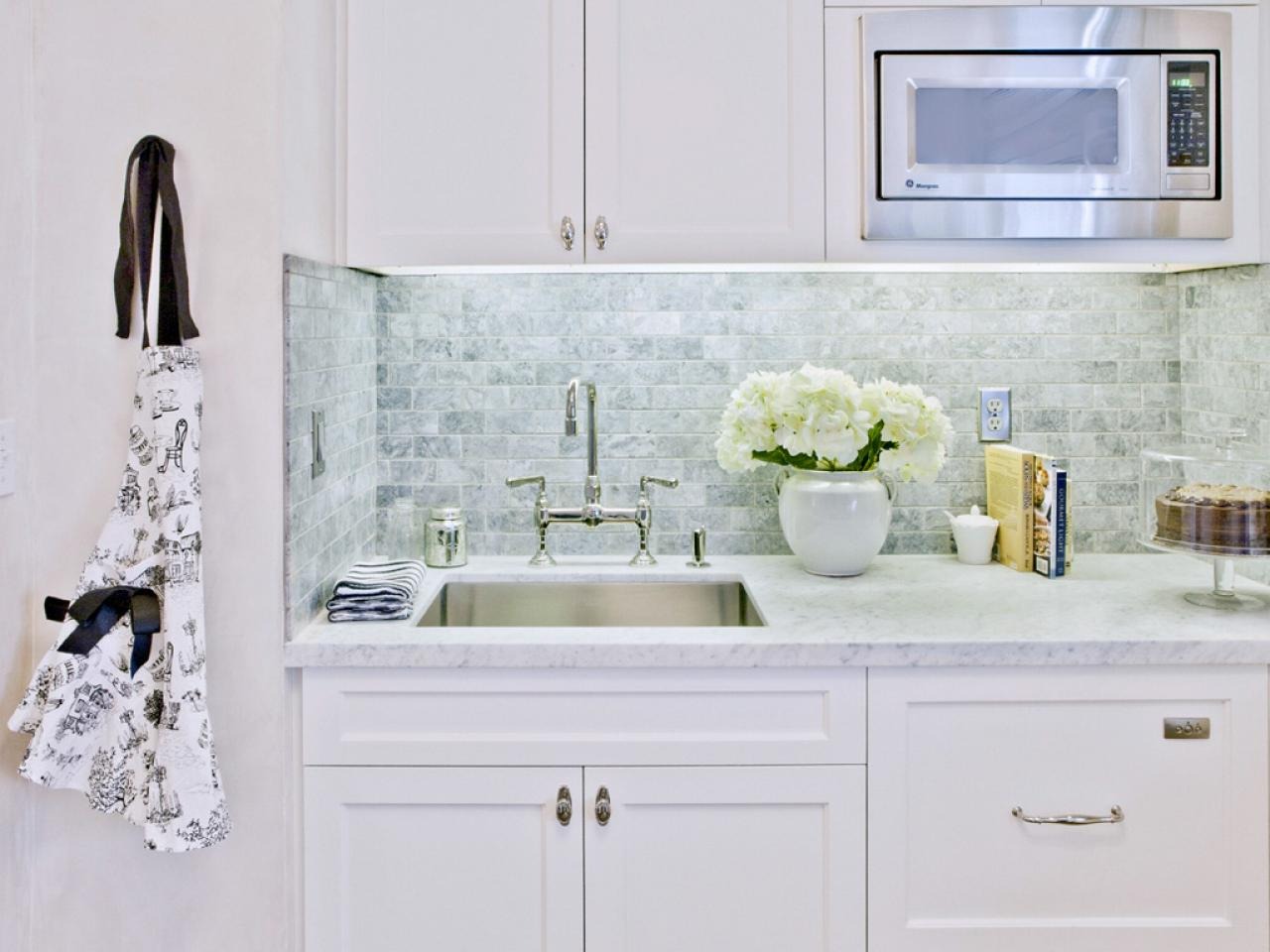 Subway tile backsplashes pictures ideas tips from hgtv for Kitchen without tiles