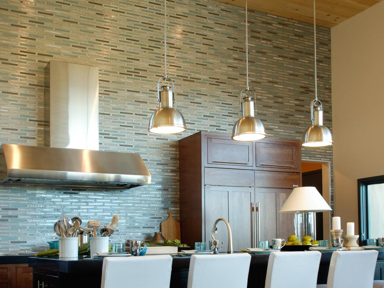 Tile backsplash ideas pictures tips from hgtv hgtv for Kitchen tiles design photos